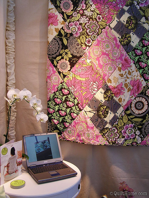 Amy Butler Softwares projects - Electric Quilt booth - Spring Quilt Market