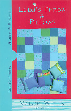Lulu's Throw and Pillows Pattern by Valori Wells