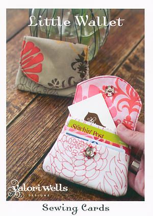 Little Wallet Sewing Card by Valori Wells