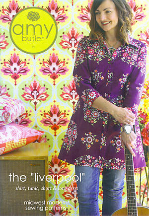 Liverpool Shirt, Tunic, Short & Long Dress Pattern by Amy Butler