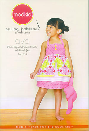 Ava Halter Top and Pleated Skirt Pattern by Patty Young