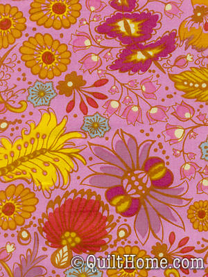 Little Folks Voile VAH01-Berry Voile Fabric by Anna Maria Horner