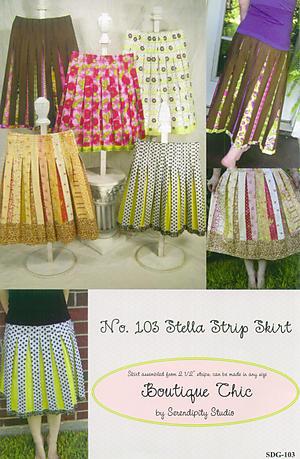 Stella Strip Skirt by Kay Whitt