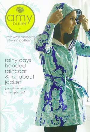 Amy Butler Rainy Days Hooded Raincoat & Runabout Jacket Pattern