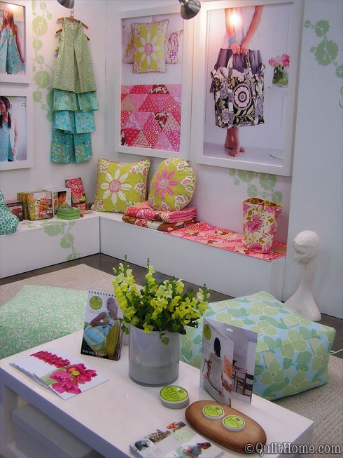 Amy Butler's Spring Quilt Market Booth in Pittsburgh