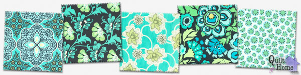Enable images to see Daisy Chain - Navy/Turquoise Palette by Amy Butler
