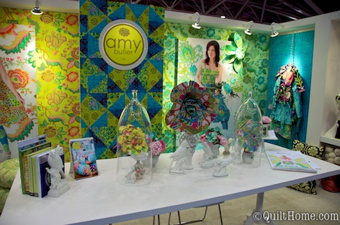 Amy Butler's booth at Spring Quilt Market 2010