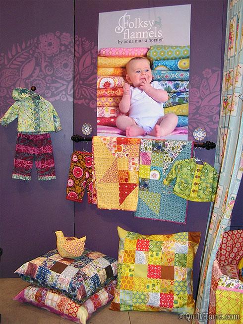 Anna Maria Horner's booth at Fall Quilt Market