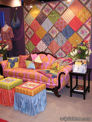 Anna Maria Horner's booth at Fall Market 2009