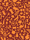 Kaffe Fassett GP119-Rust Fabric