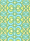 Midwest Modern AB23-Green Fabric by Amy Butler