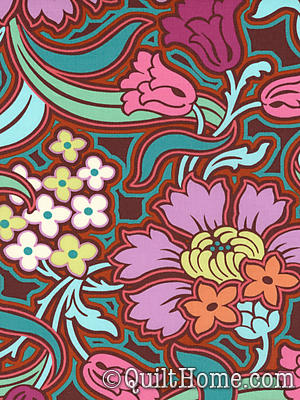 Soul Blossoms AB58-Chocolate Fabric by Amy Butler