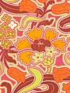 Soul Blossoms AB58-Tangerine Fabric by Amy Butler