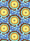 Soul Blossoms AB62-Cyan Fabric by Amy Butler