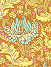 Soul Blossoms AB64-Cinnamon Fabric by Amy Butler