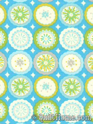 Kumari Garden DF94 Blue Fabric By Dena Designs