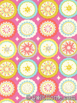 Kumari Garden DF94 Pink Fabric By Dena Designs