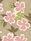 Modern Meadow JD31-Pink Fabric by Joel Dewberry