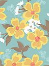 Modern Meadow JD31-Sunglow Fabric by Joel Dewberry