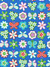 Greenhouse Flannel FAEM003-Royal Flannel Fabric by Erin McMorris