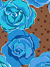 Olive Rose HDVW07-Blue Home Dec Fabric by Valori Wells