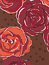 Olive Rose HDVW07-Red Home Dec Fabric by Valori Wells