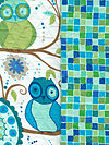 Valori Wells DQFVW04-Ocean Double-Quilted Flannel Fabric by Valori Wells