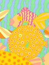 Brandon Mably PWBM029-Pastel Fabric