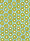 Folksy Flannels FAH04-Sea Flannel Fabric by Anna Maria Horner