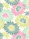 Freshcut™ 2012 PWHB023-Turquoise Fabric by Heather Bailey