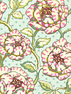 Freshcut™ 2012 PWHB028-Turquoise Fabric by Heather Bailey