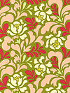 Pop Garden HB04-Peach Fabric by Heather Bailey