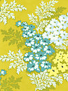 Nicey Jane HB18-Gold Fabric by Heather Bailey