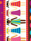 Playdate DC4410-CHOC Fabric by Patty Young