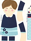 Dress Up Days P2926-Blue Fabric Panel by doohikey designs