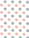Out To Sea DC5632-FLAM Fabric by Sarah Jane