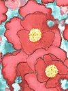 Cosmos Collection CJ5586-REDX Fabric by Laura Gunn