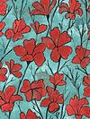 Cosmos Collection CJ5588-REDX Fabric by Laura Gunn