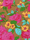 Happy Land PWJP069-Brown Fabric by Jennifer Paganelli