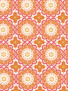 Flutter C3132-Orange Fabric by The Quilted Fish