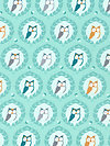 Les Amis PS5796-AQUA Fabric by Patty Sloniger