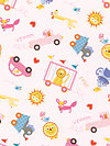 Happi PWDF153-Pink Fabric by Dena Designs