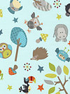Life in the Jungle Flannel F3160-Blue Flannel Fabric by doohikey designs