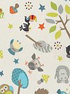 Life in the Jungle Flannel F3160-Gray Flannel Fabric by doohikey designs