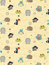 Life in the Jungle Flannel F3161-Gold Flannel Fabric by doohikey designs