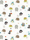 Life in the Jungle Flannel F3161-White Flannel Fabric by doohikey designs