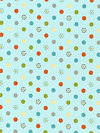 Life in the Jungle Flannel F3163-Blue Flannel Fabric by doohikey designs