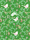 Love & Joy PWDF156-Green Fabric by Dena Designs