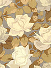 Rose Garden PWMN072-Natural Fabric by Martha Negley