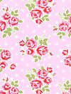 Valentine Rose PWTW076-Pink Fabric by Tanya Whelan